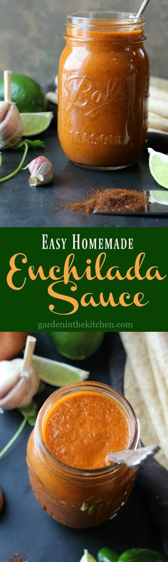 Easy Homemade Enchilada Sauce - you can make a delicious enchilada sauce using few ingredients in less then 10 minutes! Recipes With Enchilada Sauce, Homemade Enchilada Sauce, Homemade Enchiladas, Homemade Sauce, Shrimp Enchiladas, Mexican Dishes, Mexican Food Recipes, Vegetarian Recipes, Healthy Recipes
