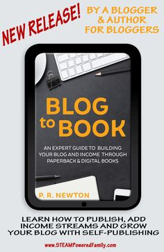 Blog To Book - An expert guide to building your business and income through ebooks and paperbacks. Written by a blogger and author for bloggers. Get your book published with this guide packed with tips and tricks