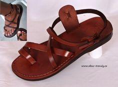 Ručně šité kožené sandály Menkaure