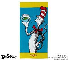Dr. Seuss™ Cat in the Hat Beach Towel | Pottery Barn Kids