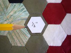 500 listo cortar plantillas de papel del hexágono con instrucciones y diseño de rejillas para tradicional inglés Patchwork hexagonal