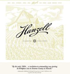Hanzell Winery #website #design