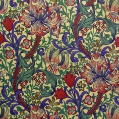 Made to Measure Curtains, Curtains Made For Free, Sanderson Fabrics, Harlequin Fabrics, Morris Fabrics. > Morris & Co Golden Lily Minor Fabric Cool Patterns, Fabric Patterns, Print Patterns, Harlequin Fabrics, Sanderson Fabric, Albert Schweitzer, Indigo Prints, Liberty Art Fabrics, Made To Measure Curtains