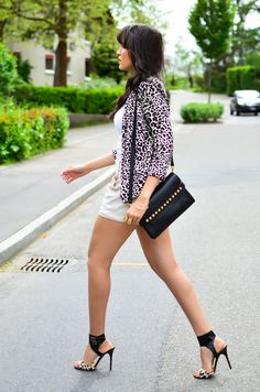 Prints Fever ( Animal Print Fur Real Faux Blazers & Leather Shoulder ) Love the shoes!