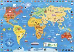 mapas del mundo niños