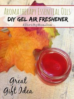 Aromatherapy Essential Oils DIY Gel Air Freshener, Makes a Great Gift Idea #DIY, #Essential Oils