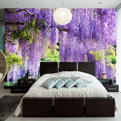 Fesselnd Schlafzimmer Design Lila Wände