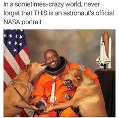 Leland Melvin- everything is right with this picture Nasa Pictures, Astronaut, Scooby Doo, Technology:__cat__