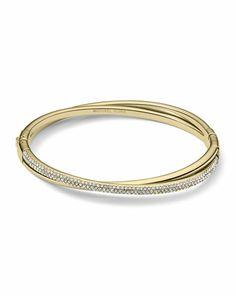 Crisscross Pave Bracelet, Golden by Michael Kors at Neiman Marcus.
