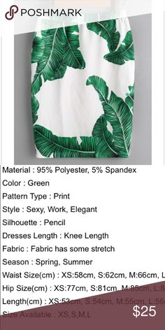 CUTE palm leaf skirt 🌴 Super cute palm leaf skirt. Size medium, elastic waist. Size description in pics. wholesale brand. Brand new in bag, no tags. Skirts