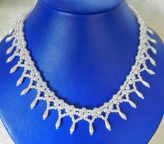 Free pattern for beaded bridal necklace Monica Click on link to get pattern - http://beadsmagic.com/?p=5638