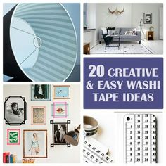 20 fun and creative washi tape ideas and projects that range from home decor to crafts. Get crafty and add a pop of color to anything with this fun paper tape. Fun Diy Crafts, Home Crafts, Diy Home Decor, Kids Crafts, Washi Tape Crafts, Sharpie Crafts, Sharpie Markers, Decorative Tape, Diy Projects