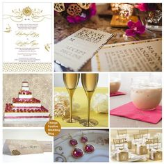 fuchsia and gold wedding by soo12, via Flickr