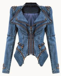 The Vogue Fashion: Slim Fit Shoulder Studded Jacket
