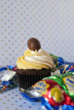 Cadbury Creme Egg Cupcakes.