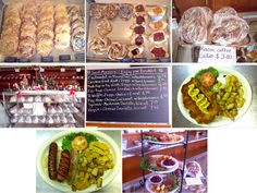 Old German Bakery - Fredericksburg, TX - Old German Bakery & Restaurant (really love their German pancakes, Schnitzel with biscuits and gravy and peach streudel!) Get there early! Cheese Biscuits, Biscuits And Gravy, German Store, San Antonio Vacation, German Bakery, German Pancakes, Fredericksburg Texas, Daily Specials, Potato Pancakes
