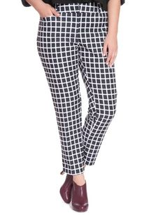 Plus Size Printed Kady Fit Pant From the Plus Size Fashion Community at www.VintageandCurvy.com