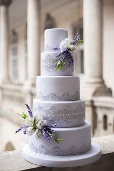 shade of purple wedding invitations/ rustic chic lavender wedding cakes Purple Cakes, Purple Wedding Cakes, Amazing Wedding Cakes, Wedding Cake Rustic, Elegant Wedding Cakes, Elegant Cakes, Wedding Cake Designs, Wedding Cake Toppers, Trendy Wedding
