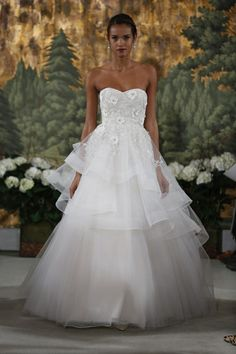 Anne Barge Wedding Dresses Spring 2015 Bridal Collection. To see more: http://www.modwedding.com/2014/04/14/anne-barge-wedding-dresses-spring-2015-bridal-collection/ #wedding #weddings #fashion