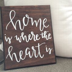 Home is Where the Heart Is  Hand-Painted by uncorkedANDrewined