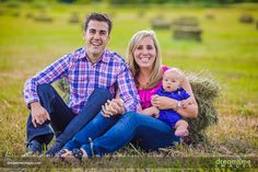 A family on a hay bale near Snowmass