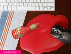 Spilled Ketchup Mouse Pad - Mouse Pads - Electronics ::INFPASS
