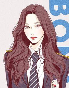 Cartoon Girl Drawing, Cartoon Art, Anime Art Girl, Manga Art, Character Art, Character Design, Art Painting Gallery, Cute Art Styles, Korean Art