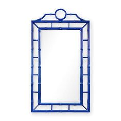 Beautiful blue Chinoiserie mirror