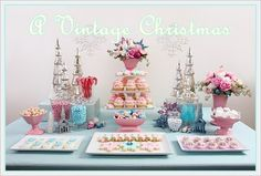 pink & blue vintage christmas