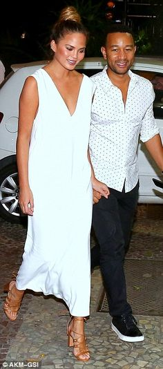 Table for two: The pair visited seafood restaurant Satyricon in Rio de Janeiro...