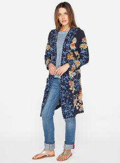 This hoodie is the perfect combination of handcrafted details with a stunning spring-inspired embroidery design. This is the perfect cover-up for those in between days—it fits like a jacket but has the feel of your favorite sweater with an attached hoodie and front patch pockets. The epitome of bohemian flair.