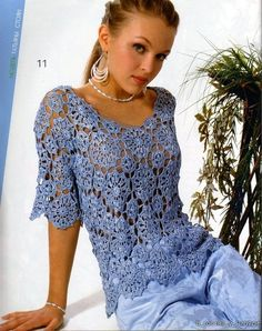ELEGANT   blouse    crochet handmade by Irenastyle on Etsy, $119.00