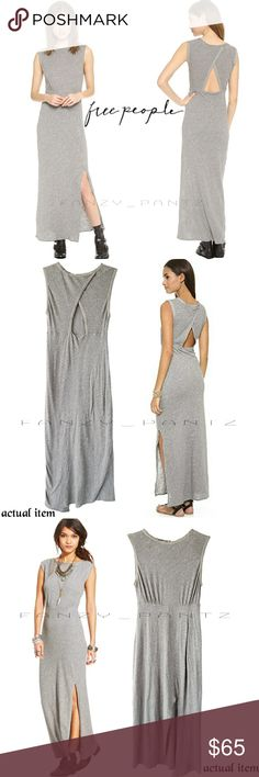0a01760a8a8 Free People maxi dress Sabrina cut out grey tank Free People Sabrina  sleeveless dress Cute back