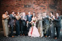 Metallic & pink Boston wedding