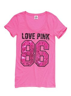 Sequin Tee - Victoria's Secret Pink® - Victoria's Secret