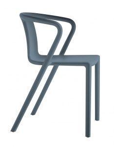 Air stoel met armsteun, anthraciet, 4 st.