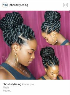 23 Eyecatching Twist Braids Hairstyles for Black Hair - Haare - Twist Braid Hairstyles, African Braids Hairstyles, My Hairstyle, Black Girls Hairstyles, Cute Hairstyles, Hairstyles Pictures, Hairstyles 2016, Gorgeous Hairstyles, Layered Hairstyles