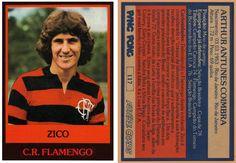 Zico - Em 1978 o chiclete Ping Pong lançou a coleção Futebol Cards.