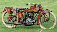 """Mystery of the Traub Motorcycle- In 1967, a plumber doing renovations of an apartment building outside Chicago tore down a brick wall and found what would prove to be a baffling mystery to vintage motorcycle enthusiasts - a one-of-a-kind motorcycle bearing 1917 plates and the name """"Traub"""". The building's elderly owner admitted that his son had stolen the bike before going off to WWI, never to return. But where the bike came from and who made it remains a unknown to this day."""