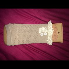 Boot Socks Crewmen boot cuffs with lace frilly trim Francesca's Collections Accessories Hosiery & Socks