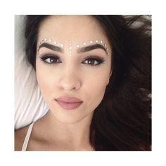makeup eyes lips hair