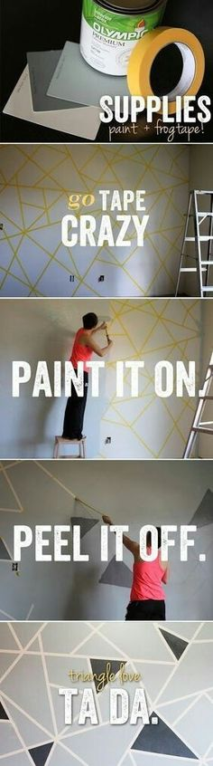 How to make geometric patterns on your walls with tape