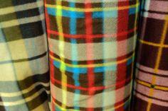 Our check fleece fabric range.