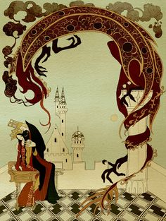 Geirlaug the King's Daughter. Kate Baylay. The Olive Fairy Book by Andrew Lang - published by The Folio Society.
