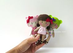 """MICRO My Teeny-Tiny Dolls® / 5"""" Handmade Dolls by Cook You Some Noodles®"""