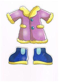 Niña invierno recortables de ropa