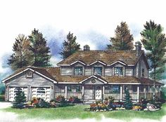 Eplans Farmhouse House Plan - Dramatic Two Story Foyer - 1865 Square Feet and 3 Bedrooms from Eplans - House Plan Code HWEPL55649