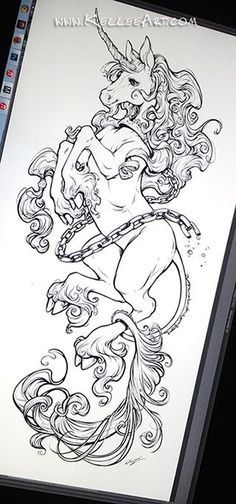 Tatto Ideas & Trends 2017 - DISCOVER Unicorn tattoo design by KelleeArt.deviant... on @DeviantArt Discovred by : camille vidal | Beautiful Cases For Girls