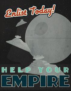#starwars #empire #deathstar #darthvader #poster