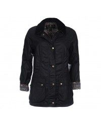 Barbour Women's Monteviot Wax Jacket - Navy/Navy Country LWX0588NY93